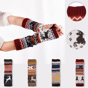 Women Girl Knitted Fingerless Gloves Arm Keep Warm Winter Gloves Soft Warm Casual Guantes Mujer Windproof Handschoenen Mittens