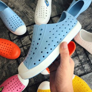 2021 New Children Nativ Jelly Shoes Summer Croc Shoes Scarpe Kids Garden Shoes Boys&girls Beach Hollow PVC Mules Clogs