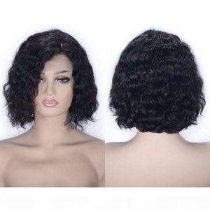 Brazilian Lace Wig 8 inch Water Wave Virgin Human Hair Lace Front Wig Short Bob Wig for Women