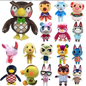 20cm 28cm Animal Crossing Plush Toy Cartoon Raymond free give away 1pcs Amiibo card Stitches Doll KK isabelle plush toys Y1116