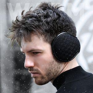 NOUVEAU hiver chaleureux cache-oreilles pour les oreillettes en peluche pour hommes pliant muffets d'oreilles pour le sac de réchauffement de l'oreille épaissie d'hiver féminin T3I51486
