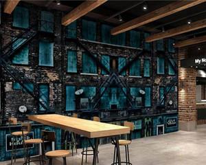3d Restaurant Wallpaper European Wallpaper Personality Art Restaurant Bar Coffee Shop Old Building Background Wall Mural Wallpaper