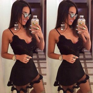 Women Mini Dress Summer Casual Sexy Sleeveless V Neck Hollow out Solid Color Evening Party Beach Ladies Short Dress Femme