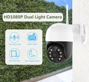AOUERTK WIFI IP Camera HD1080P Camera 2MP Wireless Smart Night Vision Waterproof Security WIFI PTZ Dome