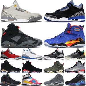 retro 8 Jumpman 3s 6s 8s мужские баскетбольные кроссовки Cement 3 Court Purple DMP 6 8 Cool Grey Doernbecher Luxurys Outdoor Men Sports Trainer кроссовки
