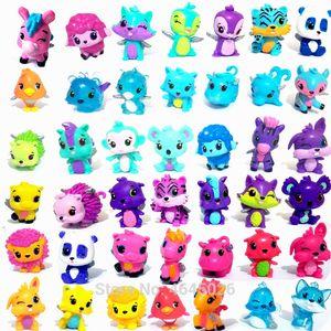 Animais dos desenhos animados Ovo Horse Hatching Modelo Miniatura PVC Acção Figuras Mini Pet Shop Figurines Collectible Dolls Kids Brinquedos LJ200924