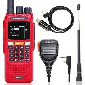 Walkie Talkie Abbree AR-889G GPS 10W 강력한 크로스 밴드 듀얼 134-174 / 400-520MHz 햄 CB 휴대용 양방향 라디오