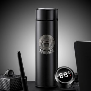 2021 New Smart Thermos Bottle 500ml Vacuum Flasks Led Digital Temperature Display Stainless Steel Insulation Mugs Intelligent Thermo cups