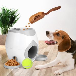 Pet Ball Launcher Dog Tennis Food Récompense Traitement de machine Traitement interactif Traitement Slow Fearner Convient aux chats et aux chiens Y1125