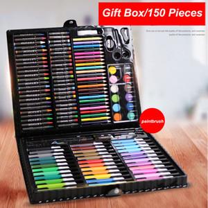 150 adet Fırça Çocuk Kalem Seti Sanat Boyama Renkli Kalem Hediye Seti Kutusu Çocuk Öğrenci Boya Fırçası Suluboya Fırça Kalem Kırtasiye DWF3150