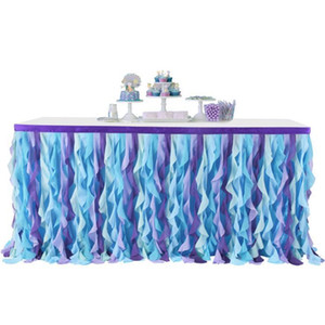 Table Skirt Wedding Tutu Tables Decoration Wedding Party Table Textile Rag Table Skirts Rectangle Round Tablecloths Accessories DDD354