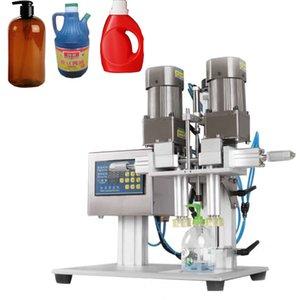 Máquina de tapping inteligente de escritorio, máquina de taping de botellas de spray cosmética, máquina de bloqueo de botellas de bebidas de agua mineral neumática 220V / 110V