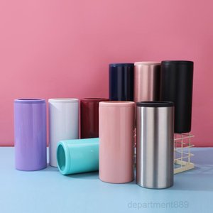12oz (high can) Tumbler Insulated Stainless Steel Car Beer Mugs cola can Flat bottom Cup free fast sea shipp OWC2988