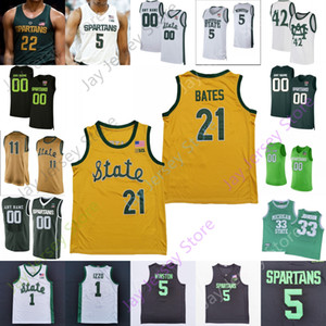 Michigan State Spartans Baloncesto Jersey NCAA COLEGE RANDOLPH RICHARDONON GREEN FOSTER LOYER AARON HENRY THOMAS KITHIER JULIUS MARBLE II
