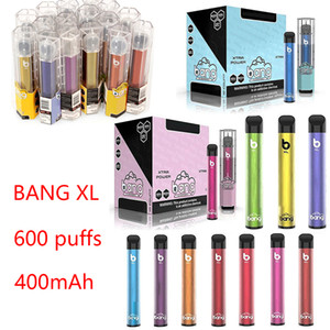 Bang XL Dispositivo de vagem descartável 600 puffs 400mAh Bateria pré-enchida Vape Vape Pen 2.0ml Cartuchos vs Barra Plus Flow XL Xtra