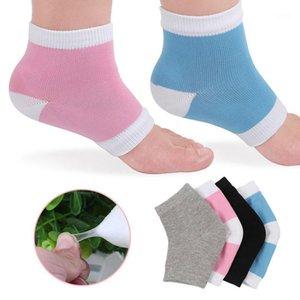 1 par gel calcanhar meias hidratantes cracked tratamento de pele de tornozelo meias suaves meias confortáveis cuidados de proteção de pés xin-1