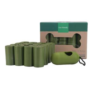 Sac à caca pour chiens 16 rouleaux Biodégradables Sacs de déchets d'animaux de compagnie avec distributeur Sac à ordures anti-fuite écologique JK2012KD
