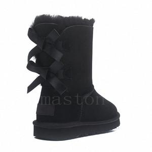 2020 Avustralya Wgg Avustralya Çizmeler Kadın Boot Kar Kış Terlik Botas Australianas Kürk Boot Yeni O7al #