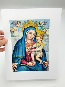 Padre Pio Preferito Madonna Cattolico Art Paintings Regalo cattolico Madri Doce Home Decor Pittura a olio su tela Wall Art Canvas Immagini 201121