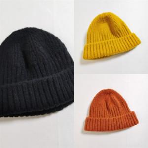 5x7 de laine de laine pour enfants automne et hiver mignon bonbons bébé élastique melon peau super doux garçons shorty chapeau tricoté et filles