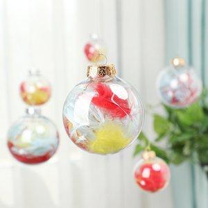 """Hochzeit Flitter-Verzierungen Weihnachtsweihnachtsglaskugeln Dekoration 80mm Weihnachtskugeln Klarglas Hochzeit Kugeln 3"""" 80mm Christmas Ornaments"""