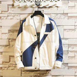 Rahat Moda Ceket Erkekler erkek Jean Ceket Streetwear Hip Hop Uçuş Denim Erkekler Marka Patchwork Denim