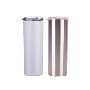 20oz Skinny Tumblers Blank Sublimation Slim Cup Coffee Lid and Straw Beer Mugs with SEA SHIPPING YYA429 100pcs