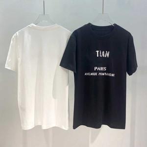 Случайные мужчины женские футболка для лета новое прибытие мужские женские дышащие футболки модные уличные тройники одежда 2 цвета