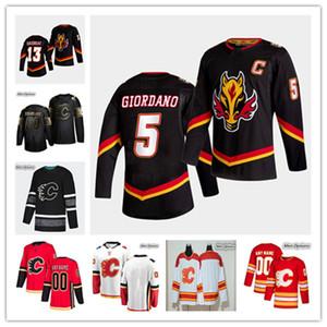 2021 Calgary Chamas Reverse Retro Jersey Hóquei Johnny Gaudreau Mark Giordano Matthew Tkachuk Milão Lucic Theoren Theoren Monahan Iguinla