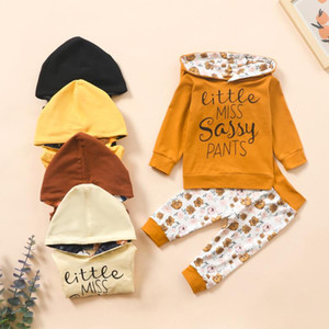 SZYADEOU Winter Children's Suit Newborn Infant Baby Girls Letter Print Hoodie Top+Floral Pants Outfits Set For 0-24 Months