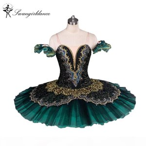 Adult Black Green La Esmeralda Ballet Tutu performance professional classical ballet tutus girls pancake tutu nutcrackerBT8941