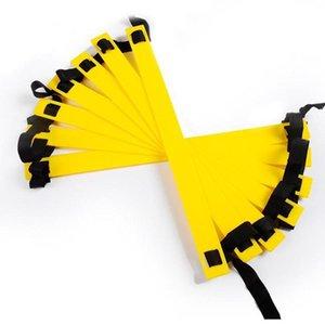 Itstyle 8 렁 12 피트 4m 축구 교육 래더 2mm M 4mm 민첩한 계단 피트니스 피트 속도 에너지 로프 사다리 wmteYr의 powerstore2012