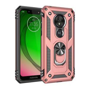 Aomor Hybrid phone case For MOTO G6 G7 E6 Z4 E5 For MOTO G8 Play Plus P40 Power One Hyper For MOTO G Stylus TPU PC with kickstand back cover