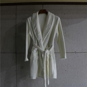 White New Women Coral Kimono Bathrobe Gown Flannel Nightwear Winter Thicken Warm Soft Robe Gown Sleepwear