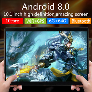 NEW 10.1inch tablet PC High quality Octa Core 10 inch MTK6592 IPS capacitive touch screen dual sim 3G tablet phone pc android 8.1 4GB 64GB