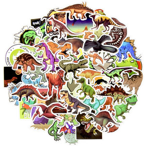50Pcs Lot Dinosaur Animal Stickers Boys Toys Jurassic Anime Cool Funny Waterproof Sticker to DIY Cups Skateboard Car Laptop Sticker