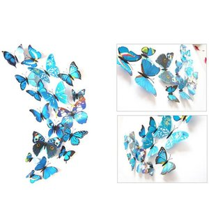 12pcs 3d Butterfly Wall Sticker Pvc Simulation Stereoscopic Butterfly Mural Sticker Fridge Magnet Art Decal Kid Room Ho bbyZNi lg2010