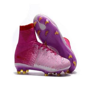 20 Modelos Top Quality Homens Sapatos Mercurial Superfly Cr7 v Fg AG Futebol Cristiano Ronaldo Alto Tops Neymar Jr ACC Soccer Sapatos Mens Soccer