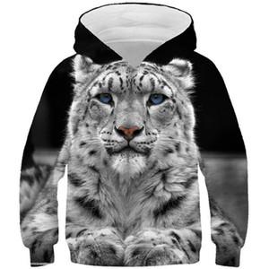 Boys Girls Harajuku Animal 3D Hoodies Children Lovely Tiger Cat Lion Galaxy Wolf Print Pullover Kids Hoody Sweatshirts Tops F1203