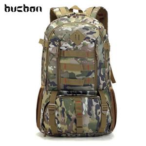 Bucbon Camo Taktische Rucksack Militärarmee Mochila 50L Wasserdichte Wandern Jagd Rucksack Tourist Rucksack Sporttasche HAB037 Y200920