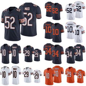 ChicagoUrsosJersey 52 Khalil Mack 29 Tarik Cohen 10 Mitchell Trubisky 34 Walter PaytonFutebolJerseys.