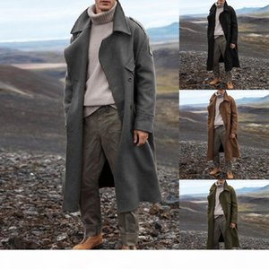 Jodimitty Fashion Men Long Jackets Autumn Winter Thick Business Casual Trench Coat 2020 New Mens Long Windbreaker Outerwear