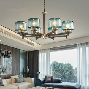 Modern LED Avize Ev Dekorasyon Vitray Avize Işık Lüks Oturma Odası Yatak Odası Yemek Odası Avize Aydınlatma