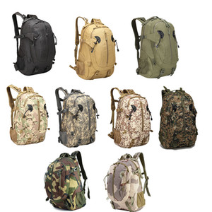 Outdoor Sports Pack Hiking Bag Tactical Rucksack Camo Knapsack Combat Camouflage Tactical 30L Backpack NO11-016