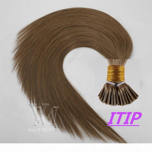 VMAE 100% Virgin Remy Single Donor Double Drawn Top Quality Piano color #6 #8 Flat I U Tip Straight keratin Glue Human Hair Extensions