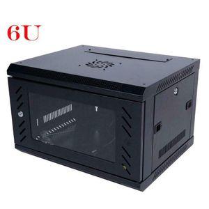 Wall Mount Network Server Data Cabinet Enclosure Rack Door Lock Cooling Fan