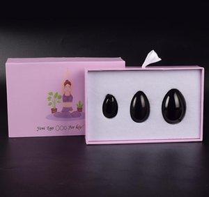 Jade Set Massage Yoni Eggs Wholesale Natural Yoni PCS / Set 3 Obsidian حجر البيض Kegel