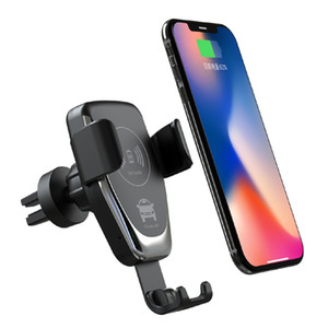 Q12 Car Mount Qi Wireless Charger for IPhone XS XR 11 Fast Wireless Charging Car Phone Holder for Samsung Note 10 S10 S9