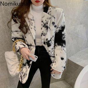 Nomikuma Coreano Elegante Tie Dye Vestito Giacca Causale Manica Lunga Dentata Collo Blazer Cappotto 2020 Autunno New Blazer Feminimo 6D553