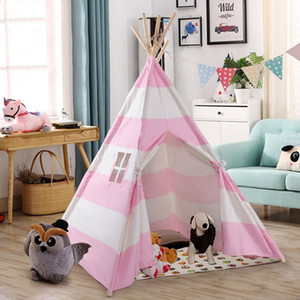 5' Portable Indian Children Sleeping Dome Play Tent Durable Wood Frame Canvas Exquisite Design Perfect Indoor Outdoor Playhouse Z1123